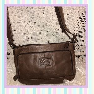 Fossil Brown Leather Crossbody Bag GOOD CONDITION
